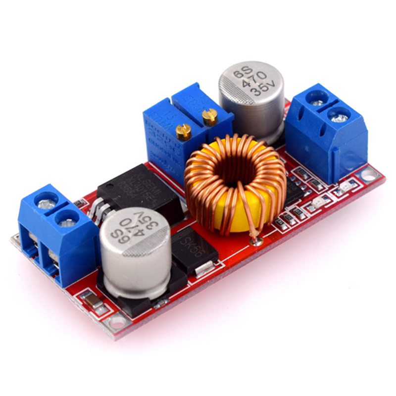 Tüketici Elektroniği'ten Pil Aksesuarları'de 50 adet 5A DC DC CC CV için lityum pil adım aşağı şarj kurulu Led güç dönüştürücü şarj adım aşağı modülü XL4015 title=