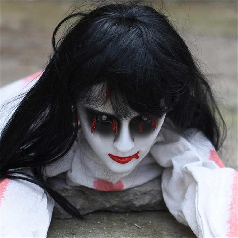 ハロウィン装飾クロールゴースト電子玩具ホラー小道具恐怖女性悪魔ホームクラブバーお化けライトホームハウスパーティーの装飾