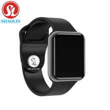 Bluetooth Smart Watch Case for Apple iphone samsung xiaomi android phone pk Smartwatch apple watch (Red Button) цена