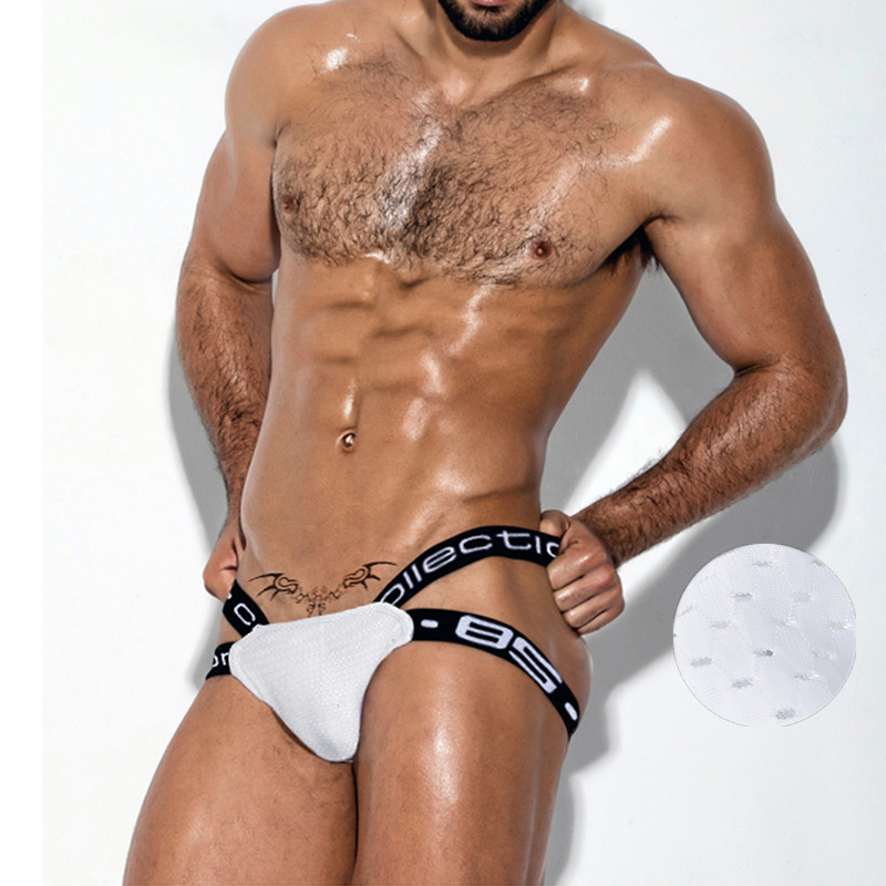Ropa interior para hombre, suspensorio, transpirable, scotton, Sexy, Tanga, Gay, ropa interior, pene, 1 ud.