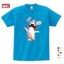 2020 летние футболки для мальчиков; Забавный кролик из мультфильма