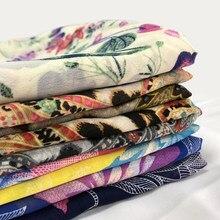 Tissu en mousseline de soie imprimé 75D, 1m, encre de chine, doux pour la peau, robe en soie, écharpe de vêtements Hanfu, printemps et été