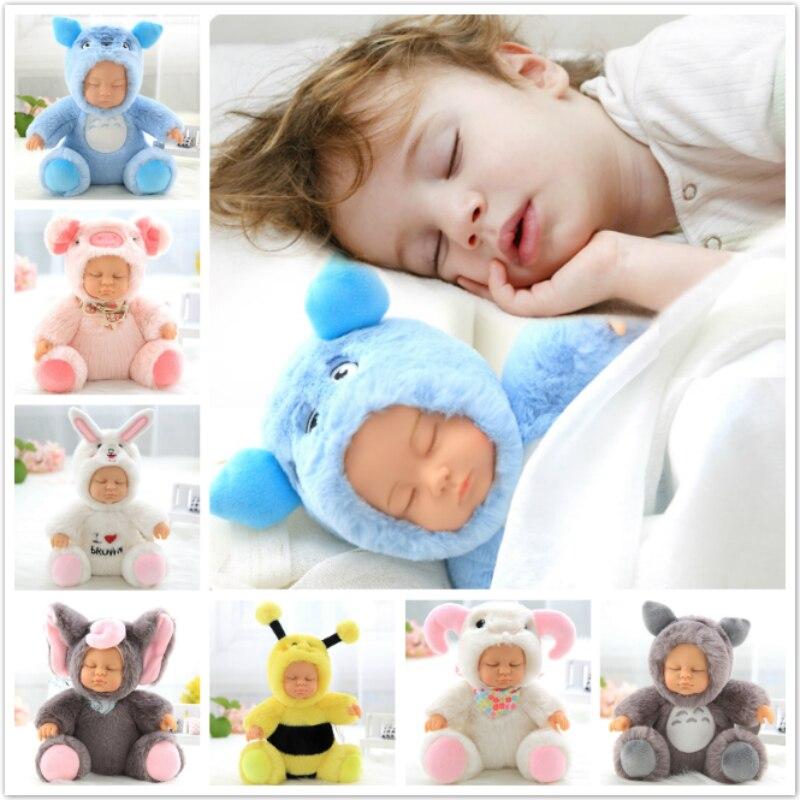 Плюшевые мягкие игрушки, кукла для новорожденных, игрушки для детей, сопроводительный сон, милое лицо из ПВХ, плюшевая кукла-животное