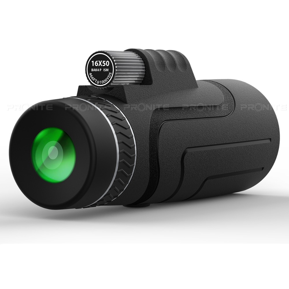 PRONITE <font><b>16x50</b></font> Hunting Monocular Telescope Portable Non-night Vision <font><b>Binoculars</b></font> High Definition Spyglass Monocle Large Eyepiece image