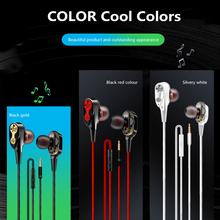 Dwurdzeniowy czterordzeniowy głośnik 3 5mm zestaw słuchawkowy z mikrofonem i regulacją głośności muzyczny zestaw słuchawkowy słuchawki basowe tanie tanio centechia douszne Dynamiczny CN (pochodzenie) PRZEWODOWY 108 mWdB Brak 1 2m Do gier wideo Zwykłe słuchawki do telefonu komórkowego
