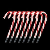 Solar Powered Christmas Pathway Candy Cane Walkway Light Stake Lamp Outdoor Yard Xmas New Year's Decoration Solar Lamp