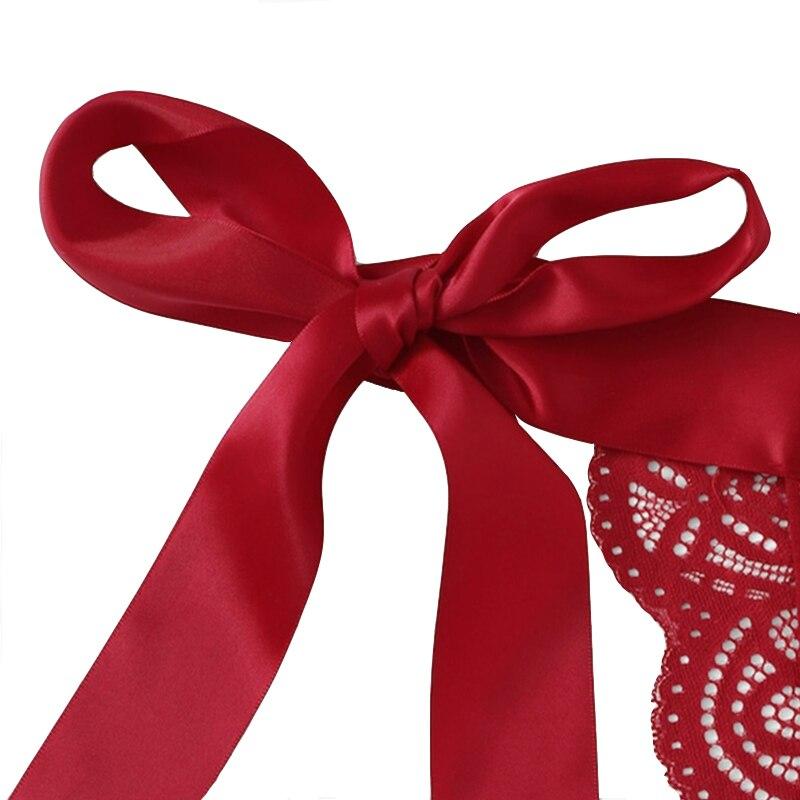 Рождество флирт сексуальное нижнее белье сексуальное белье лук кружева три точки День Святого Валентина сексуальный набор Экзотический на... 22