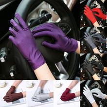 Солнцезащитные перчатки 1 пара короткие однотонные для вождения