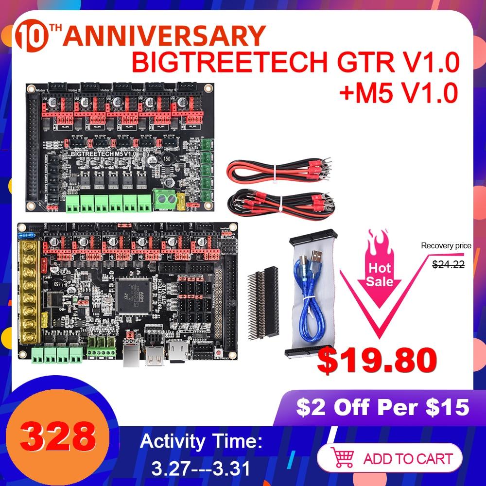 Bigtreetech GTR V1.0 Papan Kontrol 32Bit + M5 V1.0 Papan Ekspansi 3D Printer Bagian TMC2209 TMC2208 Vs Skr V1.4 Skr pro MKS Gen L