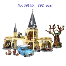 39145 big movie Harry Hogwarts Gate and beaten willow blocks building childrens educational toys holiday gift 792 pcs