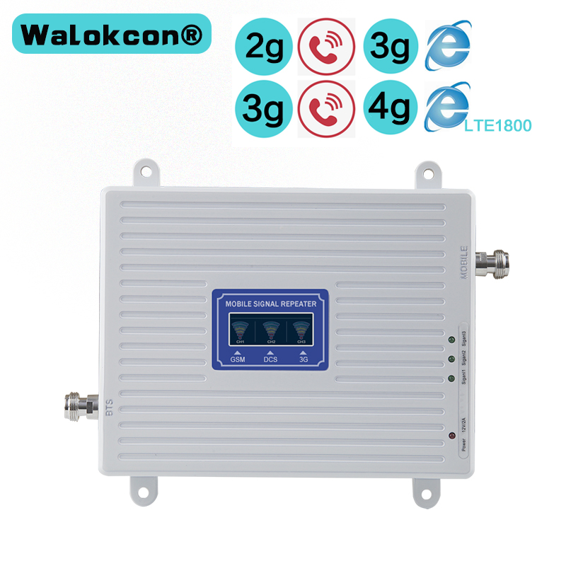 2G 3G 4G GSM 900mhz DCS 1800mhz WCDMA 2100mhz Triple Band Moblie Signal Booster LTE 1800mhz Repeater усилвател за Европа Азия
