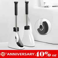 UNTIOR Stainless Steel Handle Toilet Brush Holder Floor-standing Bathroom Accessories With Base Cleaning Tool Toilet Brush Set