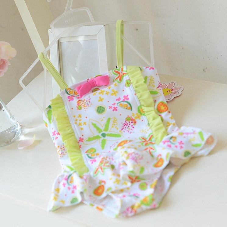 Micro 2017 KID'S Swimwear Girls Bow Cake Cute Printed Summer One-piece Swimming