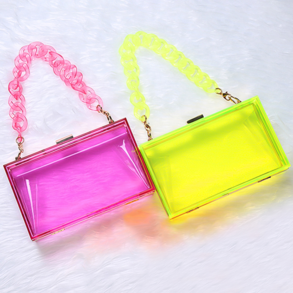 Women Fashion Bags Luxury Designer Handbag Jelly Clutch Purse Candy Color Acrylic Shoulder Crossbody Bags Trending Products 2021
