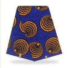 Нигерийское кружево ткань под традиционное платье ASO EBI Африканский хлопок печати Анкара высокое качество настоящий воск ткани Pagne Африканс...