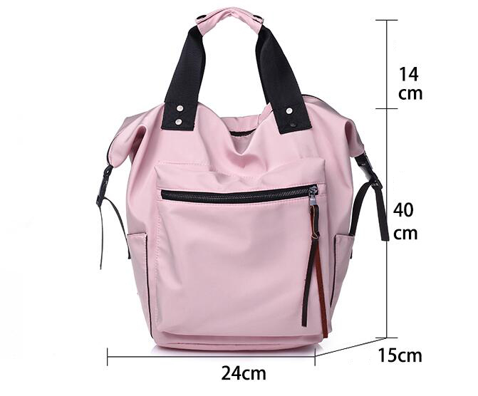 H6cc7af6e1faa411fa206c5314d420febG Casual Nylon Waterproof Backpack Women High Capacity Travel Book Bags for Teenage Girls Students Pink Satchel Mochila Bolsa 2019