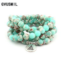 Fashion Design Howlite Natural Stone Bracelet 108 Beads Wrap or High Quality