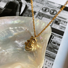 Timeless Wonder 925 Sterling Sliver Cute Solid Bear Chains Necklace Women Jewelry Gothic Hip Hop Boho Top Unique Gift Kpop 2121 wonder bear