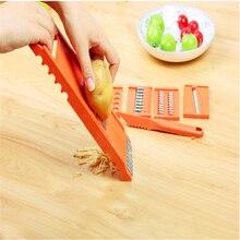 6 в 1 Пластик овощные нож для резки фруктов Регулируемый Нержавеющая сталь лезвиями многофункциональная Овощечистка Терка полезные Кухня инструменты