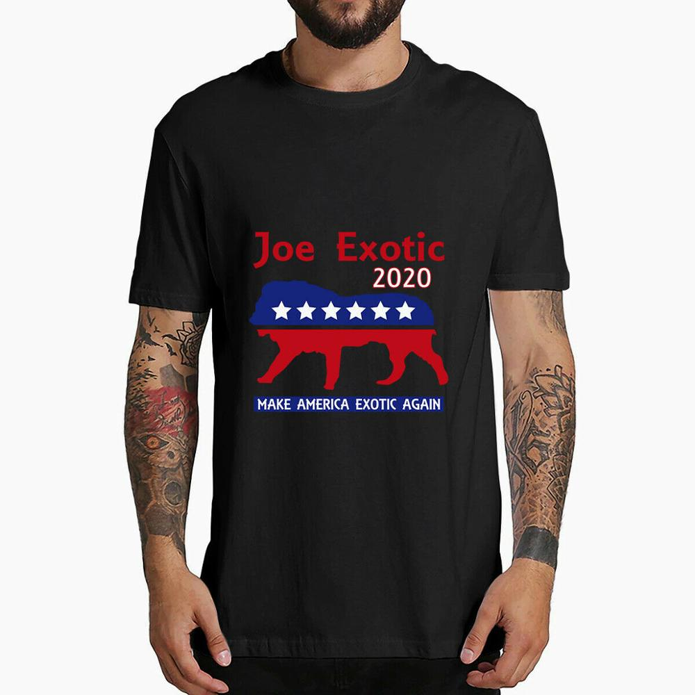 Joe Exotic The Tiger King President 2020 Make America Exotic T-Shirt XS-3XL 100% Cotton T-shirts For Men And Women