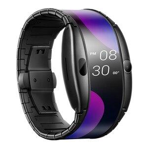 """Image 2 - Nuevo reloj Nubia ALPHA teléfono 4,01 """"Pantalla flexible plegable deportes en tiempo Real mensaje recordatorio Bluetooth llamadas gestos al aire libre"""