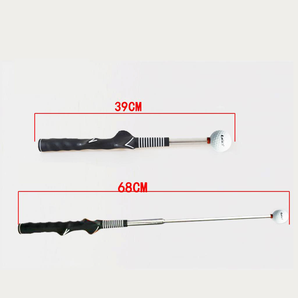 Telescopic Practice Golf Swing Trainer Training Tool For Tempo Grip Strength Improves Timing On Your Swing
