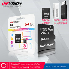 HIKVISION HikStorage Micro SD Card Class10 8/16/32/64/128/256 GB with Adapter MicroSDHC/XC UHS-I TF card C10 Memory card #C1