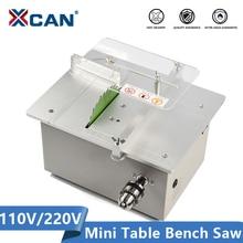 XCAN 24V Mini Table Saw 110V 220V Electric Bench Saw DIY Handmade Model Crafts Cutting Tool with Circular Saw Blade