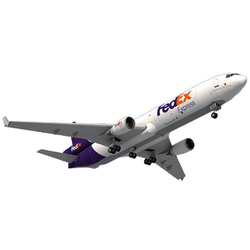 1:100 Fedex MD-11 Aircraft DIY 3D Paper Card Model Building Sets Construction Toys Educational Toys Model