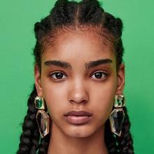1pcs/set Exaggerated Geometric Acrylic Drop Earrings Women Irregular Large Crystal Dangle Earring Female Jewelry Lady недорого