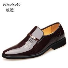 Whoholl Brand Fashion Business Dress Men Shoes 2019 New Classic Leather Suits Slip On Oxfords