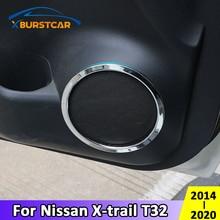 Xburstcar for Nissan X trail Xtrail T32 2014   2020 ABS Chrome Door Stereo Speaker Ring Cover Speaker Trim Accessories