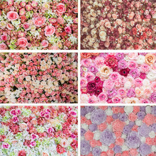 Nitree Photo Props Photography Backdrop Rose Flower Wall Vinyl Background Wedding Baby Kids Birthday Party Decoration