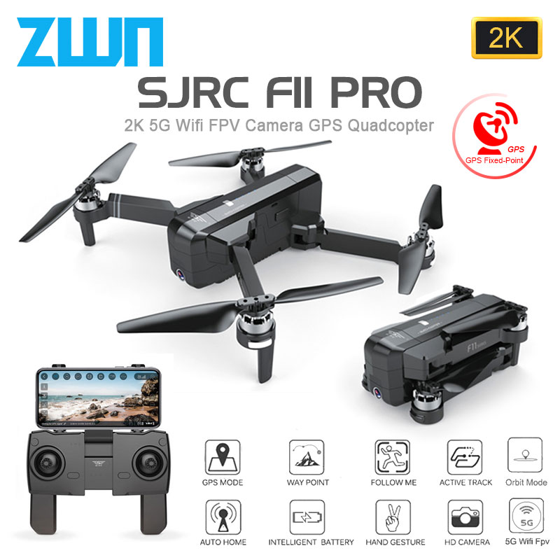 SJRC F11 PRO GPS Drone With Wifi FPV 1080P/2K HD Camera F11 Brushless Quadcopter 25 minutes Flight Time Foldable Dron Vs SG906 image