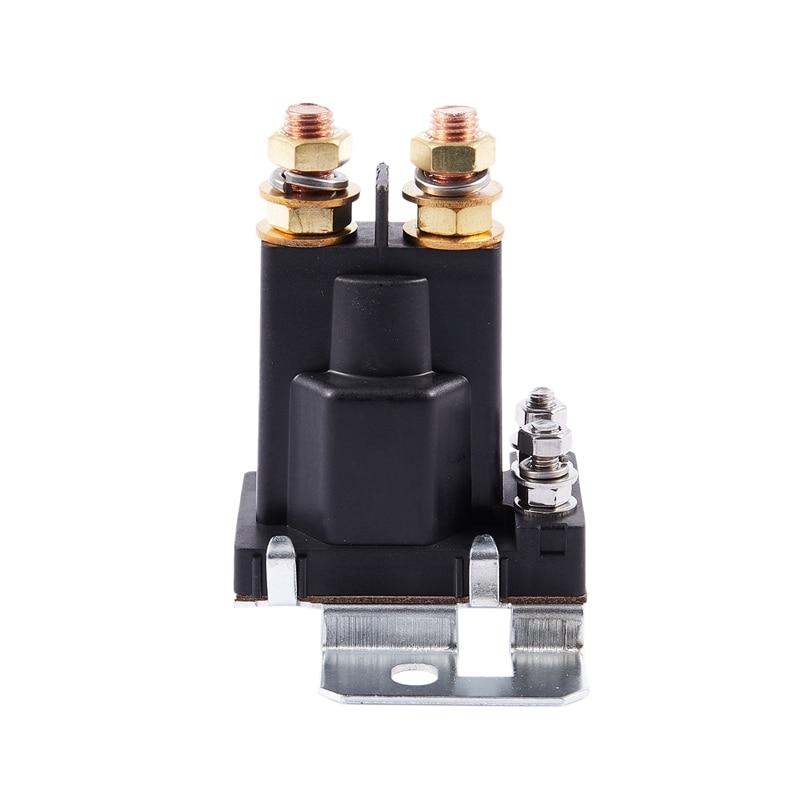 Universal Car Plastic Black 4Pin 12V DC Dual Battery Isolator Relay Start On//Off