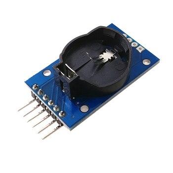 DS1302 rzeczywistym zegar moduł z baterii CR2032 po włączeniu zasilania dół DS1302 moduł