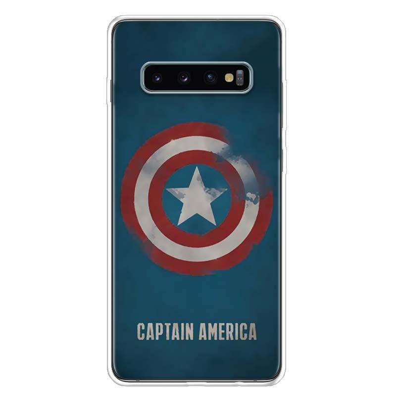 Avenger Marvel Superhero Logo Phone Case Cover For Samsung Galaxy S20 Ultra S10E Note 10 9 8 S9 S8 S7 S6 J4 J6 J8 Plus Lite + Co