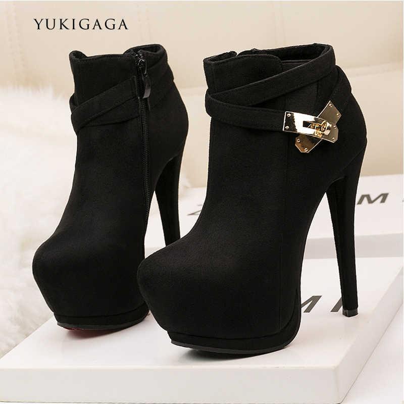 Kadın pompaları dans ayakkabıları klasik Patent deri yüksek topuklu ayakkabılar çıplak keskin kafa platformu düğün kadın elbise ayakkabı artı boyutu