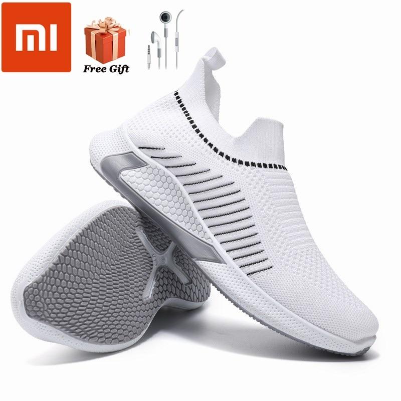 Кроссовки Xiaomi Новинка Весна 2021 мужские кроссовки большого размера с перекрестными краями дышащие плетеные кроссовки для бега