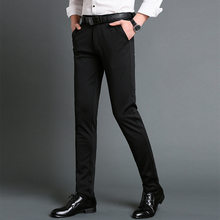 Mens Suit Pants Spring Autumn Men Dress Pants Straight Business Office Mens Formal Pants Big Size Classic Trousers Male(China)