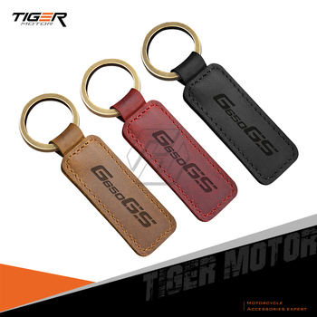 For BMW Motorrad G650GS G650 GS Motorcycle Keychain Cowhide Key Ring image