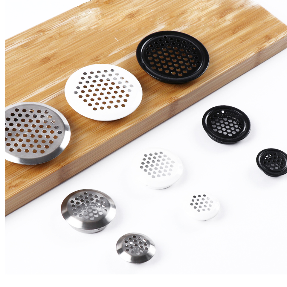 Stainless Steel Vent Hole Black Heat Dissipation Vent Mesh Cover Cabinet Wardrobe Furniture White Vent Hole Vent Mesh