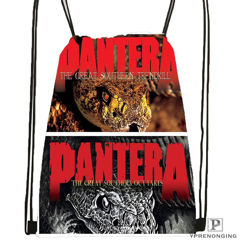 Custom Pantera Final Front Cover Drawstring Backpack Bag Cute Daypack Kids Satchel (Black Back) 31x40cm#180531-04-42