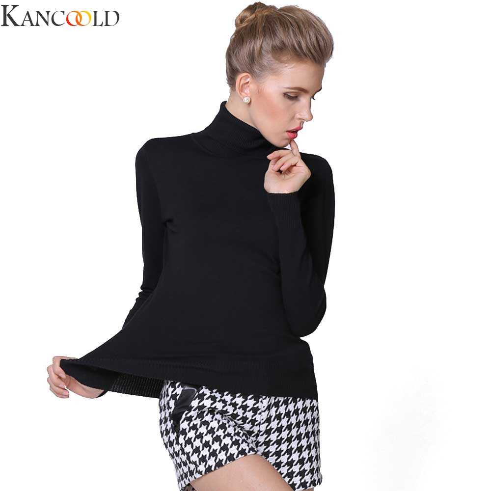 KANCOOLD Turtleneck Women Sweater Winter Warm Jumper Thick Christmas Sweaters Ribbed Knitted Pullover Top Pull Hiver Femme