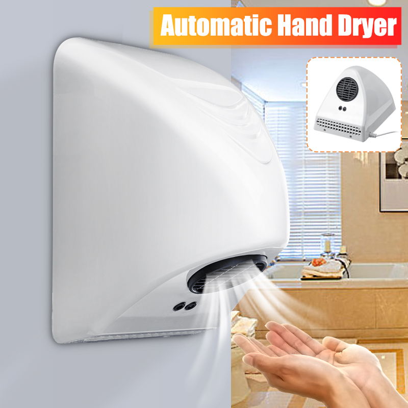 Automatic 800W Hand Dryer Wall-mounted Electric Induction Commercial Bathroom Washroom Wind Blower Small Noise Large Wind