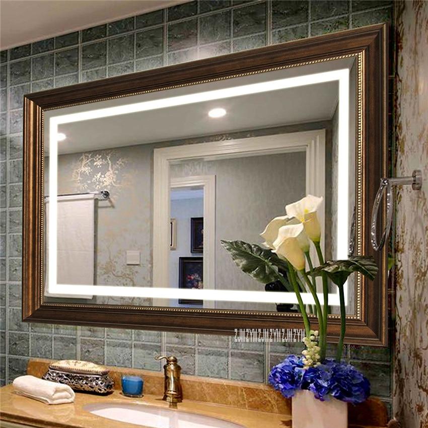 80cm 130cm Bath Led Wall Mirror Bathroom Led Mirror Washroom Led Smart Mirror Toilet Anti Fog Touch Screen Mirror 110v 220v Bath Mirrors Aliexpress