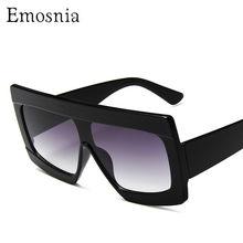 Frauen Flache Top Sonnenbrille für Weibliche Marke Oversize Platz Shades Gradienten Sonnenbrille Männer Cool Fashion Designer