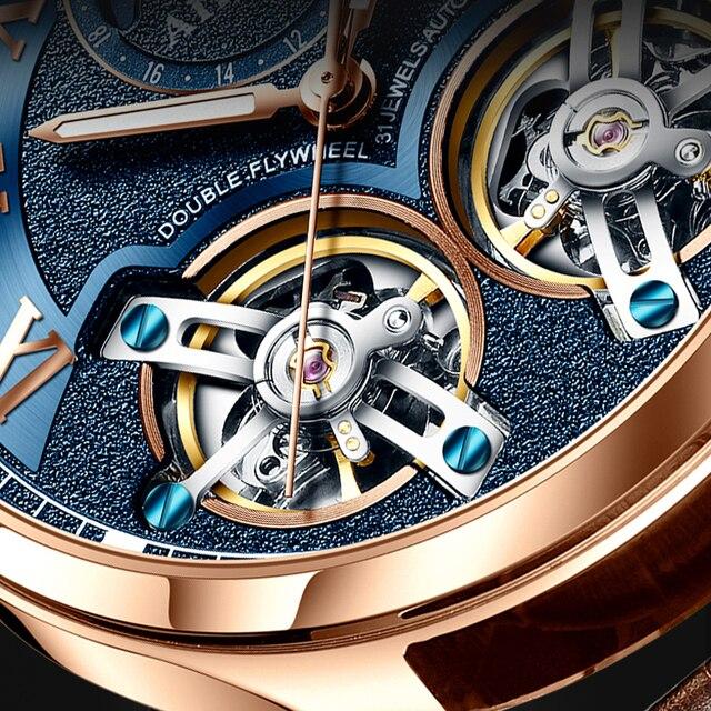 AILANG Original design watch men's double flywheel automatic mechanical watch fashion casual business men's clock Original 3