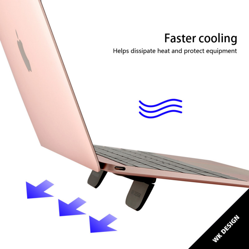 1 Pairs Mini Phone Holder Tablet Laptop Cooling Stand Portable Foldable Dest Bracket Cooling Base Sticker Travel Rack Smartphone