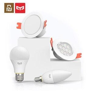 Image 1 - Ampoule intelligente de bougie de maille de Youpin Yeelight, ampoule intelligente de E14, Downlight, travail dédition de maille de Bluetooth de projecteur avec lapplication de maisons de MI